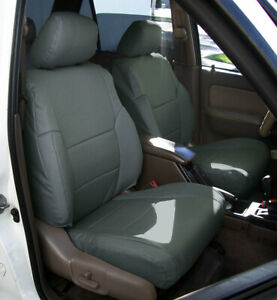 Toyota 4runner 1996 2002 Charcoal S Leather Custom Made Fit Front Seat Covers