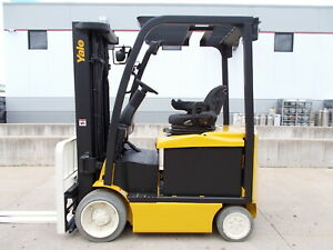 2012 Yale Erc050vg 5k 4 Wheel Electric Hyster Compact Forklift Lifttruck