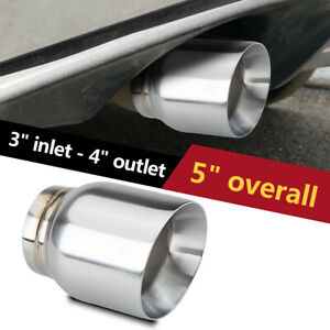3 Inlet Diesel Exhaust Tip Stainless Steel Double Wall Angle 4 Outlet 5 Long