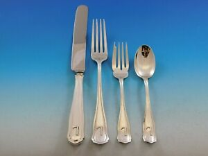 Dolores By Shreve Sterling Silver Flatware Set Service 24 Pcs Dinner L Monogram