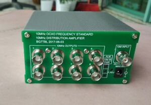 10mhz Frequency Distribution Amplifier Ocxo Benchmark Clock Divider 8port Output