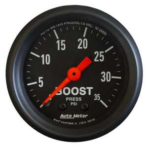 Auto Meter 2616 Z Mechanical Boost Pressure Gauge 2 1 16 Dia Black Face