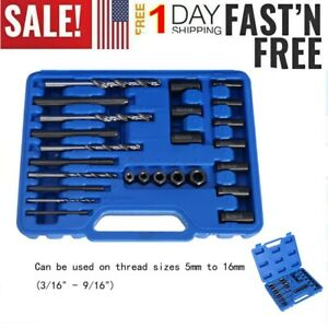 Screw Extractor 25pc Drill Guide Set Remove Broken Bolts Fasteners Easy Out Aa