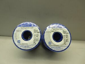 Alpha Pure Core item 110346 solder Wire 63 37 dia 032 1 Lb water Soluble
