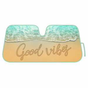 Auto Sun Shade Good Vibes Front Window Windshield Sunshade Cover Car Truck Suv