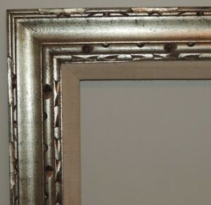Vintage Mid Century Modern Carved Wood Picture Frame Aged Gold For 17 X 21 Art