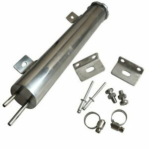 20oz 2 X 13 Polished Stainless Steel Radiator Coolant Overflow Puke Tank Can