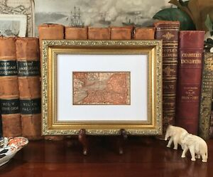 Framed Original 1889 Antique Map New York State Long Island Rochester Rochelle