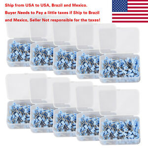 1000 Pcs Dental Prophy Brush Cup Polishing Cups Polisher Disposable Latch Blue R