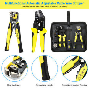 4in1 Wire Crimpers Engineering Ratcheting Terminal Crimping Pliers Stripper Kit