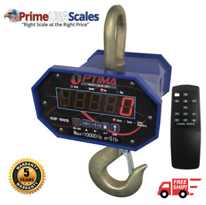 Optima Scale Op 925 6 000 Digital Heavy Duty Industrial Hanging Lcd Crane Scale