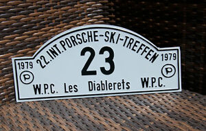 Vintage Car Club Rallye Sign Porsche Meeting Les Diablerets 1979 W rttemberg