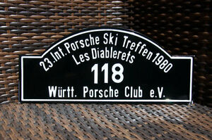 Vintage Car Club Rallye Sign Porsche Meeting Les Diablerets 1980 W rttemberg