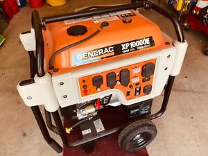 Generac 10kw Xp 10 000e Only 9 Hours Whole House Portable Tires Lifting Eye