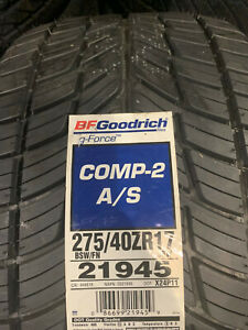 2 New 275 40 17 Bfgoodrich G Force Comp 2 A S Tires