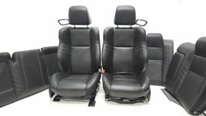 15 17 Dodge Challenger Srt Hellcat Black Leather Seat Set Front Back Bags Good