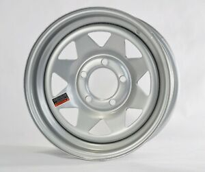 Trailer Wheel Rim 14x5 5 J 5 4 5 Silver Spoke 2200 Lb 3 19 Center Bore 75psi