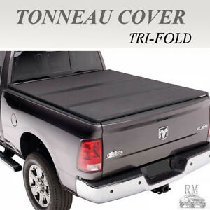 Lock Tri Fold Hard Solid Tonneau Cover Fits 2007 2018 Tundra Crew Max 5 5ft Bed