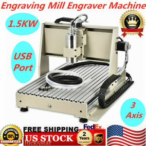 3 Axis Usb 6040 Cnc Router Engraving Mill Engraver Machine Metal Wood Cut 1 5kw