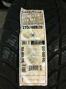 2 New 275 40 20 Goodyear Ultra Grip Suv 4x4 Snow Tires