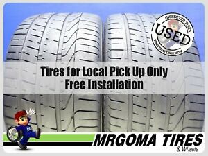 2 Pirelli P Zero Tm Ams Xl 295 30 20 Used Tires No Patch Pzero 2953020