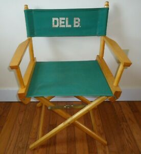 Telescope Folding Directors Chair Canvas Seat And Back Porch Patio Vintage