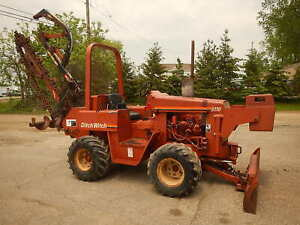 Ditch Witch 5110 Duetz 3 Cylinder Diesel 58hp Ride On Trencher 7 Foot Trench