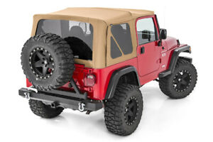 Rough Country Soft Top Fits 97 06 Jeep Wrangler Tj Half Steel Doors Spice