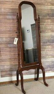Vintage Powell Collection Furniture Wood Standing Mirror With Original Tag