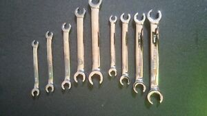 Craftsman Metric And Sae Flare Nut Line Wrench Set 9 Pieces Chrome Finish