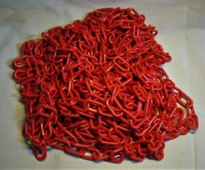 Red Polyethylene Plastic Mr Chain For Barrier Crowd Control 5005 2 X 60 Ft