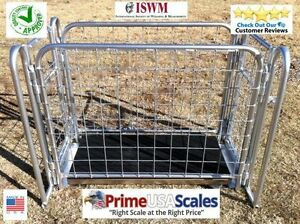 700 Lb Livestock Vet Scale Scale Hog Scale Sheep Scale Goat Scale With Cage