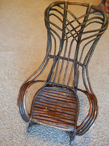 Antique Child S Small Twig Adirondack Style Rocking Chair