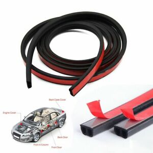 33ft B Shape Rubber Weather Seal Hollow Universal Car Door Strip Weatherstrip
