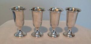 Set 4 Vintage Towle Sterling Silver 925 Cordials 58 Weighted Liquor Shots 107 2g
