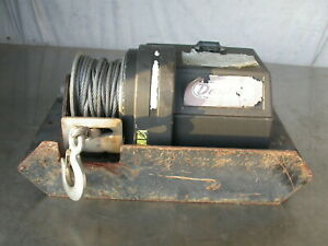 Dayton Winch 3500lbs Capacity Same Superwinch X3 With Mount For 2 Receiver