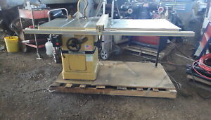 Powermatic Table Saw Model 66 10 Cabinet Saw 220 Volts 1 Ph Excellent Conditio
