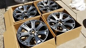 22 2018 Tahoe Silverado Ltz Silver Gray Factory Wheels New Ck163