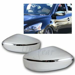 For 2013 2018 Nissan Altima Chrome Abs Plastic Side Mirror Cover Cap Kit 2pcs
