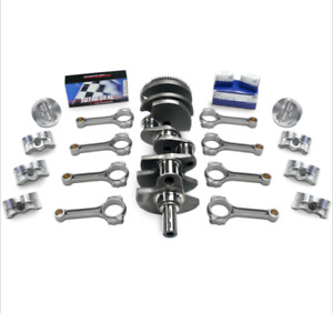Chevy Fits 350 383 Bal Scat Stro Kit 1pc Rs frgd dome pst frgd Crank ibeam 6 rds