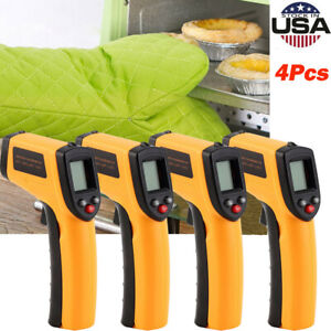 4pcs Gm320 Non contact Lcd Ir Laser Infrared Digital Temperature Thermometer Gun