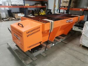 Buyers Gas 8 Carbon V Box Spreader Extended Chute 2 Yards Orange