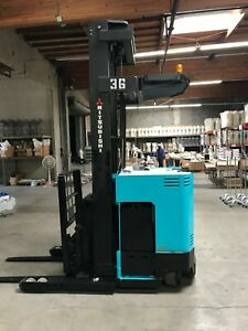 Komatsu Forklift 5000lbs Side Shift 3 Stage Fg25st 14 Low Hours Lift