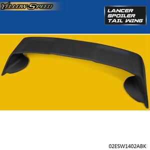 For 2008 2017 Mitsubishi Lancer Evo10 Black Factory Style Abs Spoiler Wing Lid