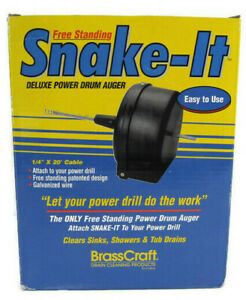 Brasscraft Snake it Free Standing Deluxe Power Drum Auger Galvanized Wire