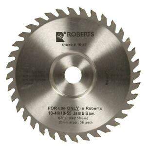 6 3 16 In 36 Tooth Carbide Tip Saw Blade For 10 56 Jamb Undercut Circular Saws