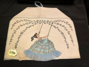 Vtg Nwt Imperial 100 Belgian Linen Lady In Swing Toaster Cover Cozy