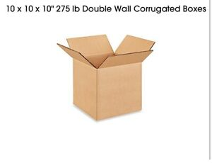 10 X 10 X 10 275 Lb Double Wall Corrugated Boxes