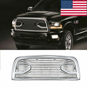 Fits For Dodge Ram 2500 3500 2013 2018 Laramie Limited Grille Chrome Grill