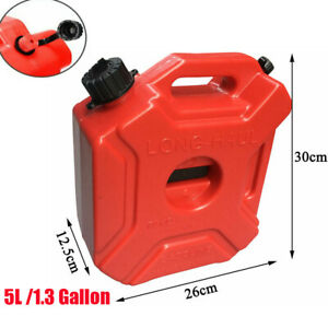 5l Plastic Can Gas Fuel Tank Petrol Motorcycle car Portable Storage Container Us